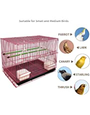 "Jainsons Pet Products Bird Cage Best for Lovebird/Pet, Parrot, Parakeet, Budgie, Cockatiel Cage Hammock Large Bird Cage (Size: 23.5"" Long, 16.5"" Wide and 16"" Height) Color May Vary"