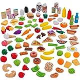 KidKraft 63330 Leksak mat Tasty Treats Deluxe 27-delad Bright Cookware Set, Färgglad