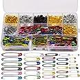 LUTER 500 Piezas Imperdibles Grandes y Pequeños,19mm 22mm 28mm 32mm 36mm 45mm 50mm Safety Pins para Costura de Joyería Artesa
