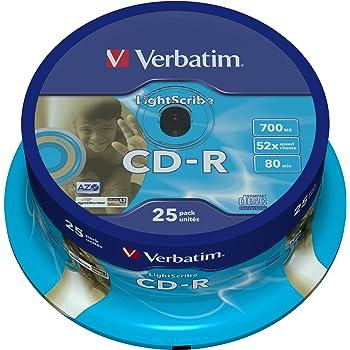 Verbatim Lightscribe V1 2 Farbige Cd R Rohlinge Gold