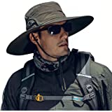 Cooltto Sun Hats for Men/Women with UPF 50+ UV Protection, Wide Brim Waterproof Breathable for Cycling, Fishing, Hiking, Golf