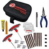 TIREWELL TW-5005 10 in 1 Universal Tubeless Tyre Puncture Kit with Storage Bag, Emergency Flat Tire Repair Patch Tool Bag for