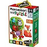 Headu- Montessori My First Puzzle The Forest Gioco, Multicolore, IT20133