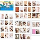 WeaArco VSCO, 50 stuks wandcollages, poster, slaapzaal, fotoweergave, collage, print, set, esthetiek, collage kit, stijlvolle