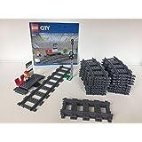 EB Lego City spoorweg treinen en signaal, incl. 16 gebogen en 4 rechte rails (van 60197)