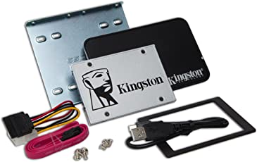 Kingston SSDNow UV400 120GB solid state drive (2,5 Zoll SATA 3 mit Desktop/Notebook upgrade kit)