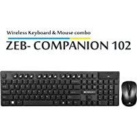 Zebronics Companion 102 Wireless Keyboard and Mouse Combo with Rupee Key