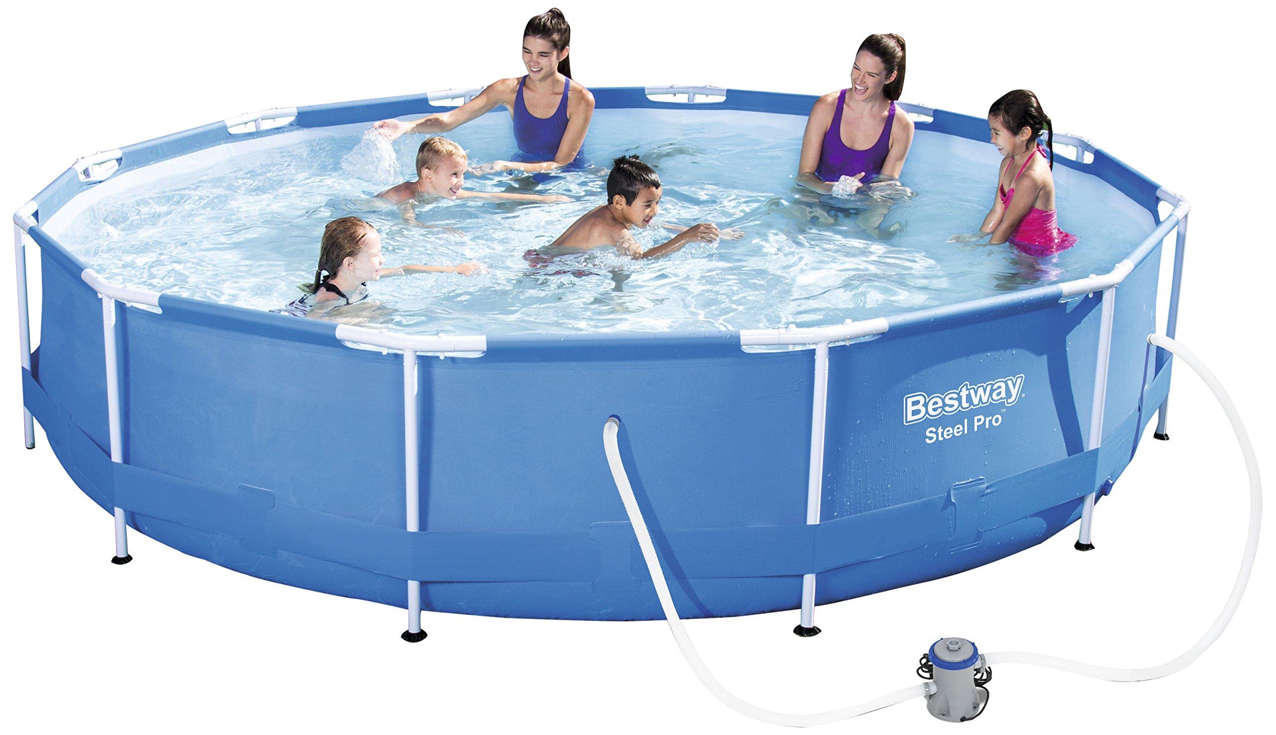 Bestway Steel Pro Frame Pool Set mit Filterpumpe 366 X 76cm   eBay