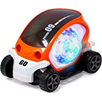 Zest 4 Toyz 360 Degree Rotating Stunt Car Bump and Go Toy with 4D Lights, Dancing Toy, Battery Operated Toy - Assorted…