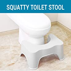 TIED RIBBONS Squat Stool for Western Toilets (53 x 20 x 20 CM,Plastic) Assorted Color