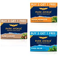 Park Avenue Premium Soap Buy 9 Get 3 Free - Pure Luxury 500g, Cool Blue 500g, Good Morning 500g