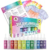 Doodlehog Easy Tie Dye Party Kit for Kids, Adults, and Groups. Create Vibrant Designs with Non-Toxic Dye. 12 Colors Included!