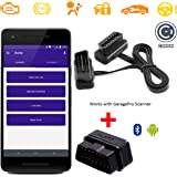 PITZO GaragePro Professional Android-based Bluetooth OBD scanner with 16 Pin Male To Female OBDII Extension Cable