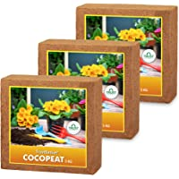 TrustBasket COCOPEAT Block - EXPANDS to 225 litres of Coco PEAT Powder (Set of Three 5kg Blocks)