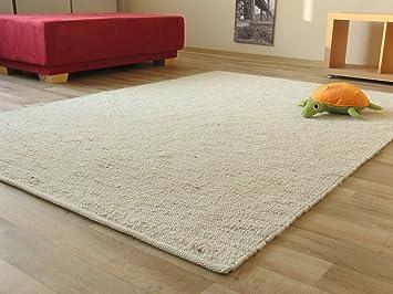 Teppich schurwolle  Landshut Handweb Teppich aus 100 % Schurwolle - natur hell, Größe ...