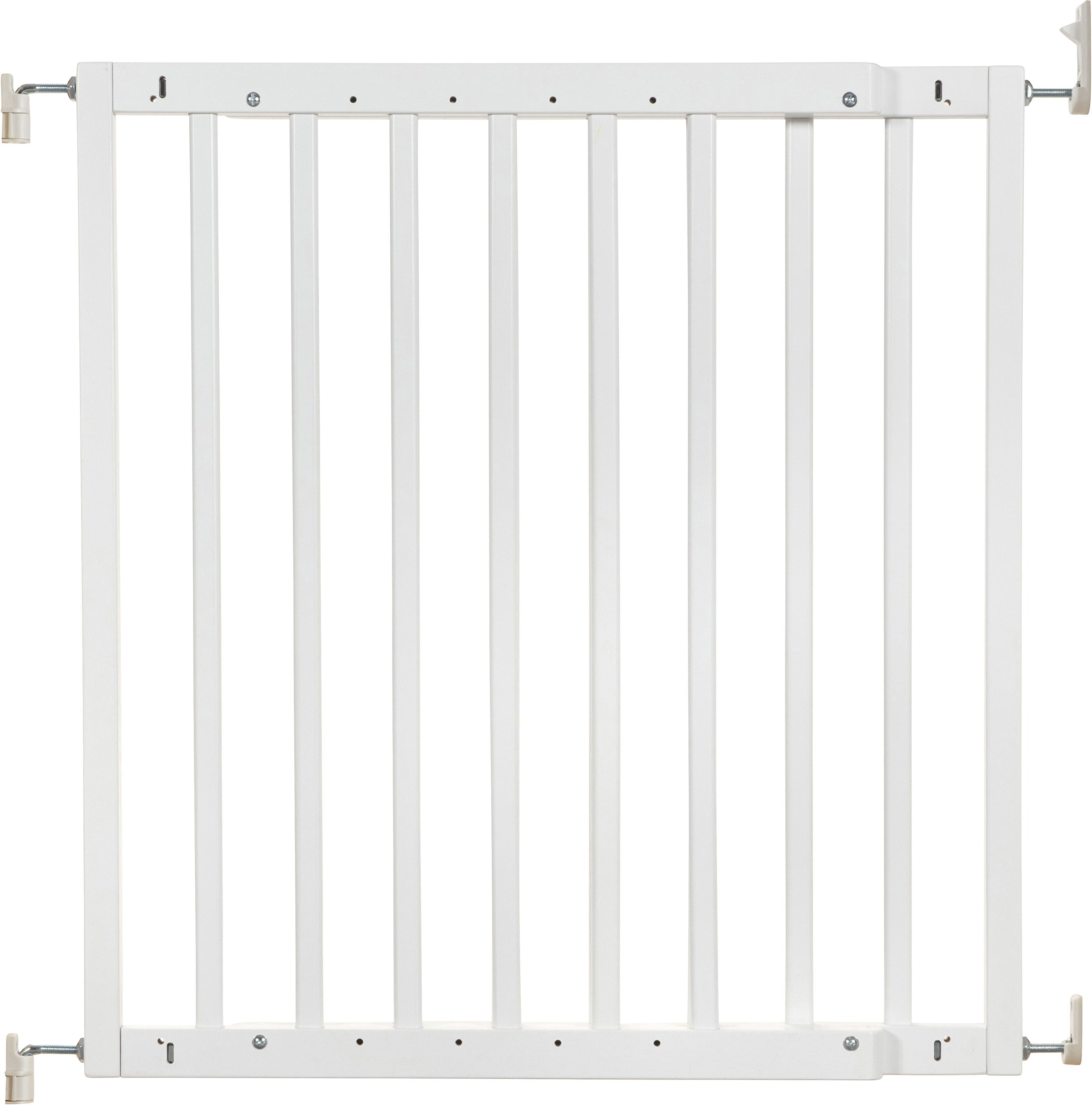 Badabulle Color Pop Safety Gate, White Badabulle Wooden safety gate for self-assembly Easy to open Swinging door 1