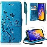 AROYI Coque Samsung Galaxy A10, Retro Design PU Etui Housse en Cuir Portefeuille de Protection [Fonction Stand Video] [Porte