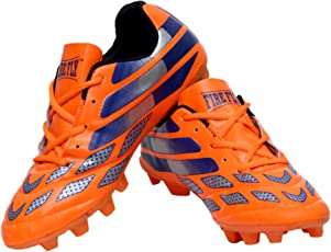 """Men's Firefly""""Messi"""" Orange Football Sports Shoes (Cleats) TPU Sole Made from P.U Material"""