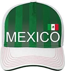 World Cup Soccer Mexico Mens -Jersey Hook Structured Meshback, Royal, One Size