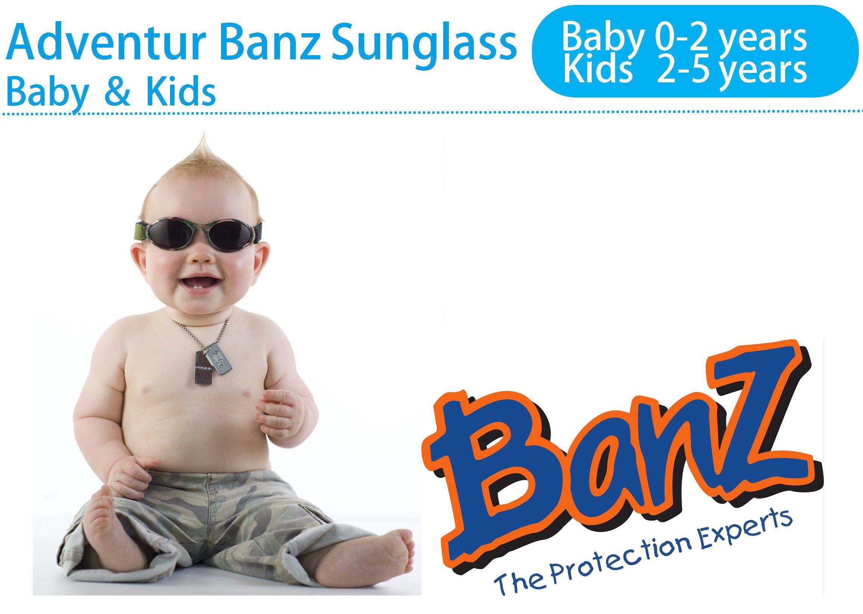 Baby Banz - Gafas de sol Ovaladas para niños, color Rojo, talla 0-2 anos 3