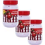 Fluff Marshmallow 42671 - Set di 3 Bastoncini per spalmare Il Pane, con Schiuma, Fragola, 213 g