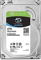Seagate SkyHawk 4TB Surveillance Hard Drive - SATA 6Gb/s 64MB Cache 3.5-Inch Internal Drive (ST4000VX007)