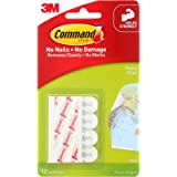 Command 17024 Poster Mounting Adhesive Strips - White, Pack of 12