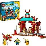 LEGO 75550 Minions kungfugevecht met Kevin, Stuart en Otto Figuren, Minion Speelgoed voor Kinderen