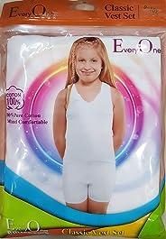 Girls White Undershirt Vest and Short, Girls White Underwear set