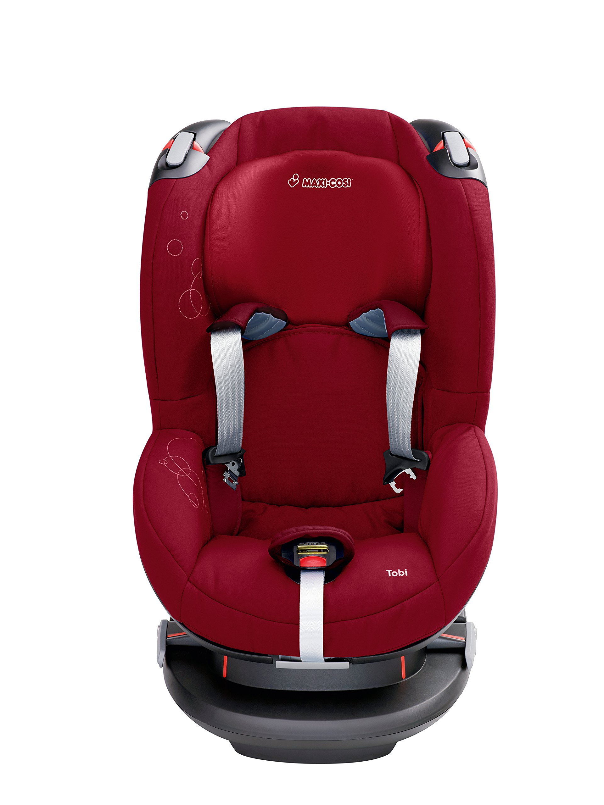 Maxi-Cosi Tobi Toddler Car Seat Group 1, Forward-Facing Reclining Car Seat, 9 Months-4 Years, 9-18 kg, Denim Hearts Maxi-Cosi Forward facing, suitable for toddler of weight 9-18 kg Easy to install with a three-point safety belt Intuitive and easy to read belt routing 2
