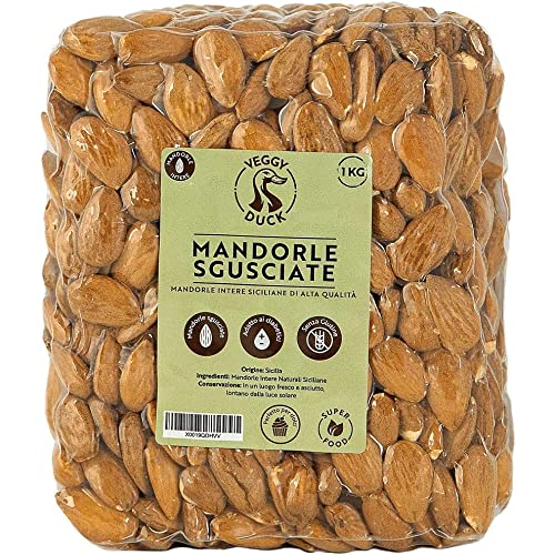 Veggy Duck - Mandorle Sgusciate Naturali (1Kg) | Origine Sicilia | Senza Glutine