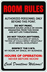 Inephos Room Rules Poster | Funny Posters for Room (12 x 18 inch)