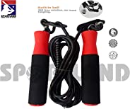 SPORTLAND Fitness Jumping Adjustable Skipping Rope for Gym Training, Exercise and Workout