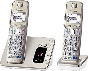 Panasonic KX-TGE222GN Senioren-Telefon, zusätzliches Mobilteil, Champagner