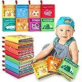 Magicfun Libros Blandos para Bebé, 8 Piezas Libro de Tela Bebé Aprendizaje y Educativo Libro para Bebé Recién Nacido Niños