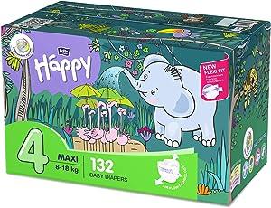 Bella Baby Happy Windeln Größe 4 Maxi, 1er Pack (1 x 132 Stück)