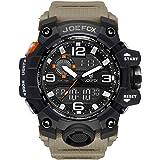 Orologio da polso digitale da uomo, sportivo, militare, analogico-digitale, cronografo, orologi da uomo, grande interfaccia d
