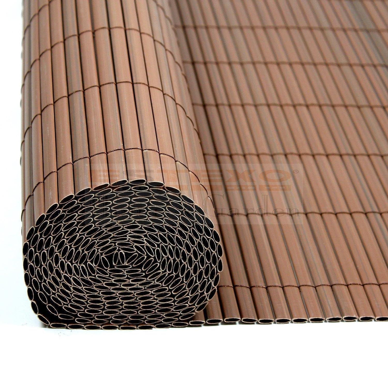 Amazon PVC Sichtschutzmatte Braun Größe Wählbar