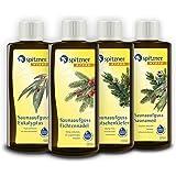 Spitzner Infusion pour sauna Souffle libre : Eucalyptus, aiguille d'épicéa, pin de montagne et Saunamed (4x190ml)