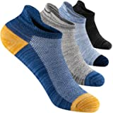Mens Ankle Running Trainer Socks 8 Pairs, Breathable Comfort Cotton Low Cut Tab With Arch Support for Sports, Athletic, Work,