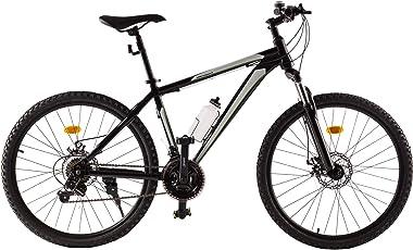 Ultrasport Hardtail Mountainbike 26 Zoll, 21-Gang Shimano-Kettenschaltung, Federgabel, mechanische Scheibenbremsen, A-Head Vorbau, inkl. Trinkflasche