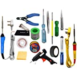 FADMAN Soldering Iron 25 W Simple - 2 | Cutter | Paste | Tester | Bit | Desolder Pump | ScrewDriver | Stand | Wick | Solder W