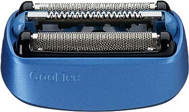 Braun Elektrorasierer Ersatzscherteil 40B, kompatibel mit CoolTec Rasierern, blau