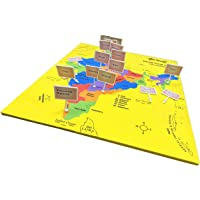 GeoKraft India Map with States, Capitals and Union Territory Jigsaw Puzzle Educational Toy and Learning Aid for Kids…