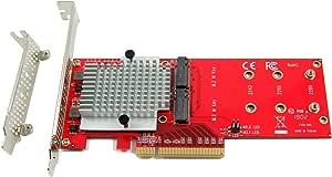 Ableconn Pexm2 130 Dual Pcie Nvme M 2 Ssds Carrier Computers Accessories