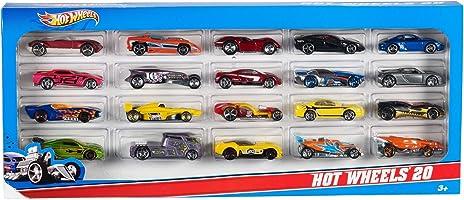 Hot Wheels H7045 20er Pack 1:64 Die-Cast Fahrzeuge, mittelgroßes Geschenkset, je 20 Spielzeugautos, zufällige Auswahl, ab 3 Jahren