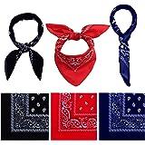 URATOT 6 Pack Cotton Bandana Multifunction Paisley Headbands Cowboy Bandana Handkerchiefs, Assorted 6 Colors, 55 by 55 cm
