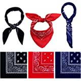 URATOT 6 Pack Cotton Bandana Multifunction Paisley Headbands Cowboy Bandana Handkerchiefs, Assorted 6 Colors, 55 by 55…