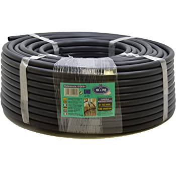 S&M 010064 Irrigation Piping – 16 mm x 100 m – Black
