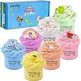Luclay Slime Regali per Bambini in Stucco per Bambini, 4 Pezzi 100 ML Floam Slime Fai da Te con 4 Colori (type 3)
